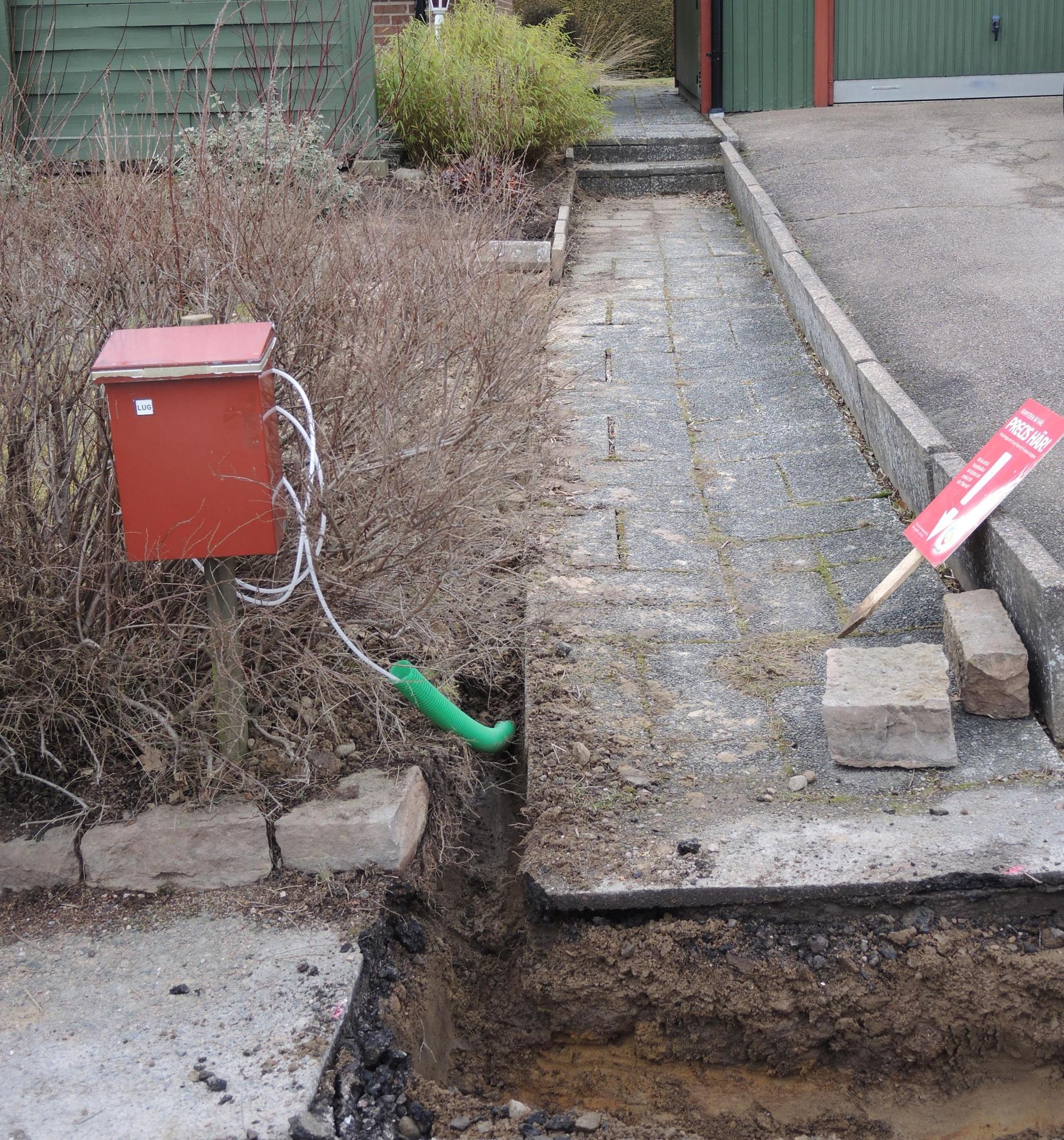 gräva fiber till villa